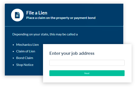 Mechanics lien county recorder e-filing