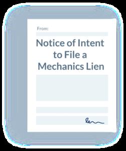 Notice of Intent to Lien Illustration