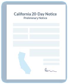 Preliminary Notice form illustration