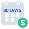 Payment Period 30 Days Icon