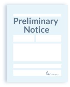 Preliminary Notice